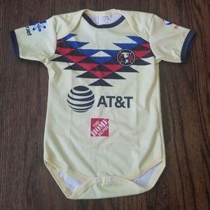 Club america baby jersey jumpsuite pañalero